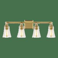 Monterro 4 - Light Vanity Burnished Brass