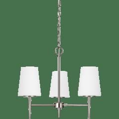 Driscoll Three Light Chandelier Brushed Nickel Bulbs Inc