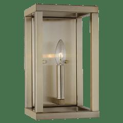 Moffet Street One Light Wall / Bath Sconce Satin Brass Bulbs Inc