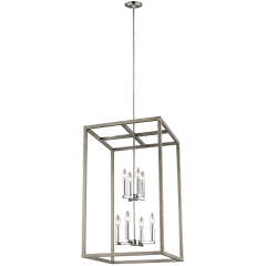 Moffet Street Large Eight Light Hall / Foyer Washed Pine