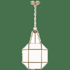 Morrison Small Three Light Lantern Satin Brass