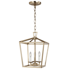 Dianna Three Light Mini Lantern Satin Brass Bulbs Inc