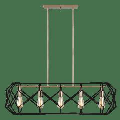 Zarra Five Light Linear Satin Brass