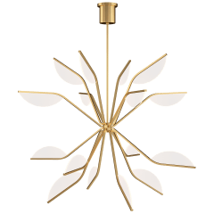 "Belterra 43 Chandelier 48"" Diameter natural brass 3000K 90 CRI integrated led 90 cri 3000k 120v"