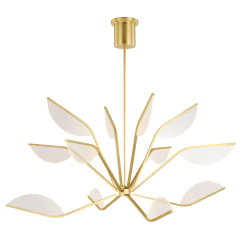 "Belterra 48 Chandelier 48"" Diameter natural brass 3000K 90 CRI integrated led 90 cri 3000k 120v"