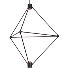 Candora 29 Chandelier matte black 3000K-2200K 90 CRI integrated led 90 cri 3000-2200k 120v (t24)