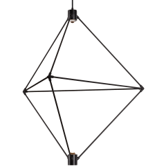 Candora 34 Chandelier matte black 3000K-2200K 90 CRI integrated led 90 cri 3000-2200k 120v (t24)