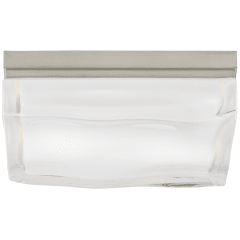 Fluid Square Large Flush Mount Large satin nickel 3000K 100 CRI incandescent 120v (t20)