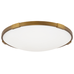 "Lance 18 Flush Mount 18"" Diameter aged brass 2700K 90 CRI led 90 cri 2700k 120v"