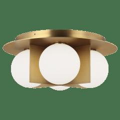 Orbel Ceiling aged brass 3000K 90 CRI bi-pin g9 led 90 cri 3000k 120v (t20/t24)
