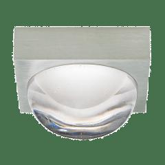 Sphere Flush Mount Clear satin nickel 3000K-2200K 90 CRI integrated led 90 cri 3000-2200k 120v
