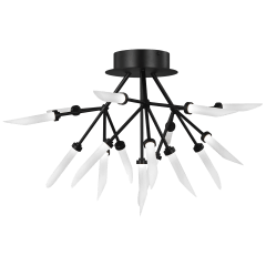 Spur Ceiling matte black 2700K 90 CRI integrated led 90 cri 2700k 120v-277v unv (t24)