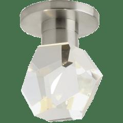 Sopra Flush Mount Faceted Crystal satin nickel 3000K 90 CRI led 90 cri 3000k 120v