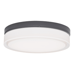 Cirque Small Outdoor Wall/Flush Mount Small charcoal 3000K 90 CRI