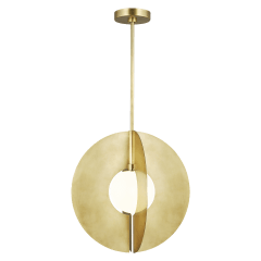 Orbel Round Grande Natural Brass No Lamp