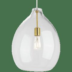 Quinton Pendant Clear Natural Brass No Lamp