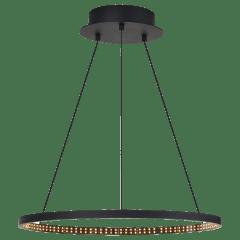 "Vellavi 24 Chandelier 24"" Diameter Nightshade Black 2200K 90 CRI Integrated LED 90 CRI 2200k 120v-277v"