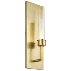 Linger Wall 1 Light natural brass 3000K 90 CRI integrated led 90 cri 3000k 120v (t24)