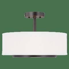 Nance Two Light Semi-Flush Convertible Pendant Bronze