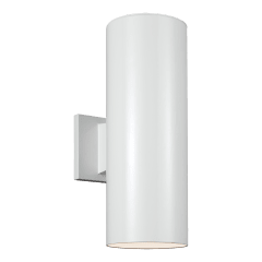 Outdoor Cylinders Small Two Light Outdoor Wall Lantern White