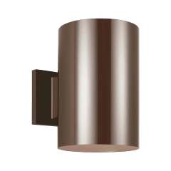 Outdoor Cylinders Large One Light Outdoor Wall Lantern Bronze