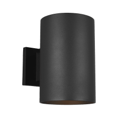 Outdoor Cylinders Large One Light Outdoor Wall Lantern Black