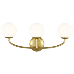 Galassia Three Light Vanity Burnished Brass