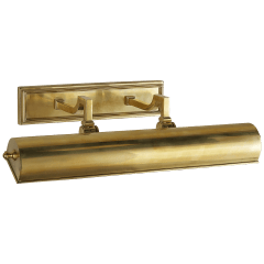 """Dean 18"""" Picture Light in Natural Brass"""