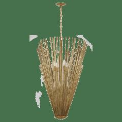 Helios Tall Pendant Antique Gild