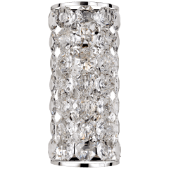 Sanger Long Sconce in Polished Nickel with Crystal