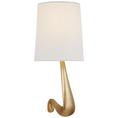Gaya Large Sconce in Gild with Linen Shade