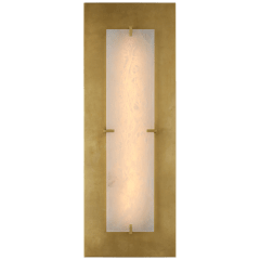 Dominica Large Rectangle Sconce in Gild and Alabaster