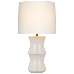 Marella Medium Table Lamp in Ivory with Linen Shade