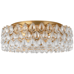 Liscia Large Flush Mount in Gild with Crystal