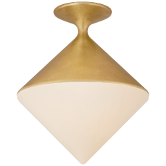 Sarnen Small Flush Mount in Gild with White Glass