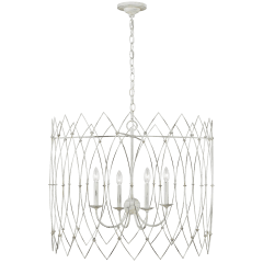 Gardner Large Chandelier Rustic White