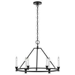 Keystone Small Chandelier Aged Iron