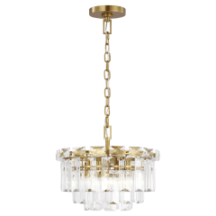 Arden Small Chandelier Burnished Brass