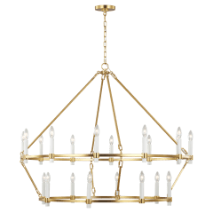 Marston 2 Tier Large Chandelier Burnished Brass