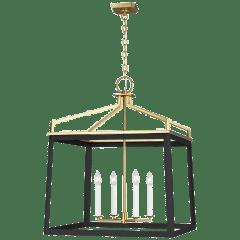 Carlow Extra Large Lantern Midnight Black