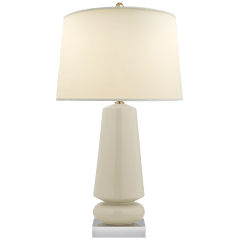 Parisienne Medium Table Lamp in Iced Coconut with Natural Percale Shade