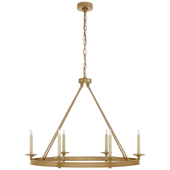 Launceton Large Oval Chandelier in Antique- Burnished Brass