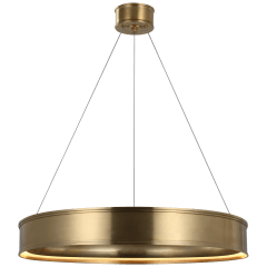 """Connery 30"""" Ring Chandelier in Antique-Burnished Brass"""