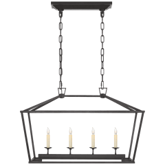Darlana Small Linear Lantern in Aged Iron