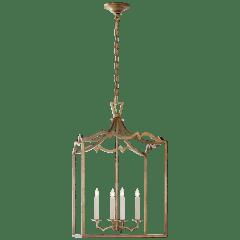 Darlana Medium Fancy Lantern in Gilded Iron