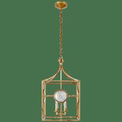Gramercy Medium Lantern in Gilded Iron