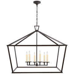 Darlana XXL Wide Lantern in Aged Iron