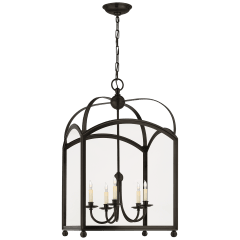 Arch Top Large Lantern in Bronze