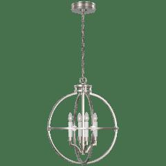 "Lexie 24"" Globe Lantern in Polished Nickel"