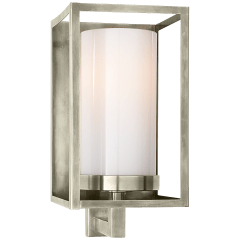 Easterly Sconce in Antique Nickel with White Glass